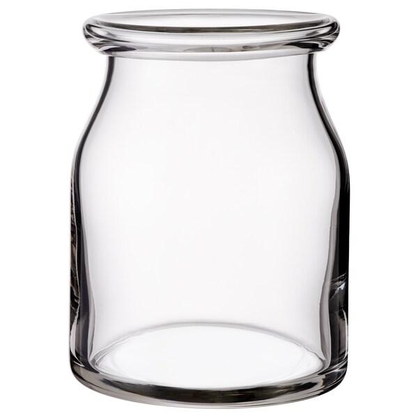 BEGÄRLIG Wazon, szkło bezbarwne, 18 cm
