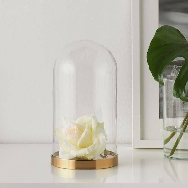 BEGÅVNING Kopuła szklana z bazą, 26 cm