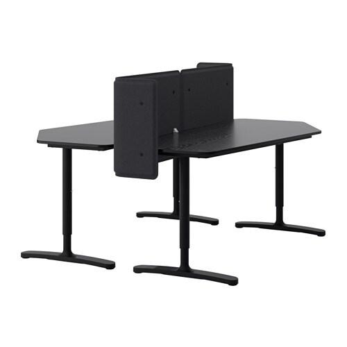 bekant biurko z ekranem ikea. Black Bedroom Furniture Sets. Home Design Ideas