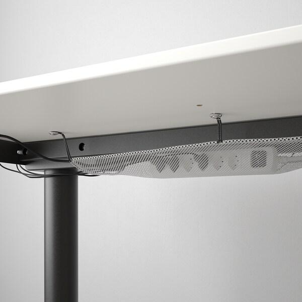 BEKANT Biurko z regulacją wysokości, biały/czarny, 120x80 cm