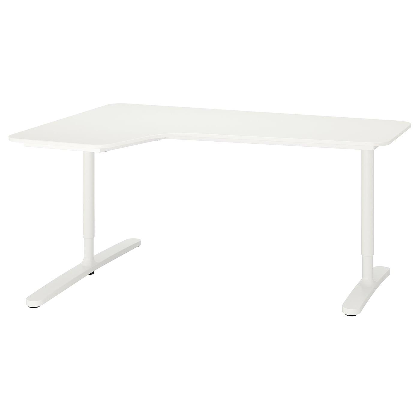 IKEA BEKANT białe biurko narożne lewe, 160x110 cm