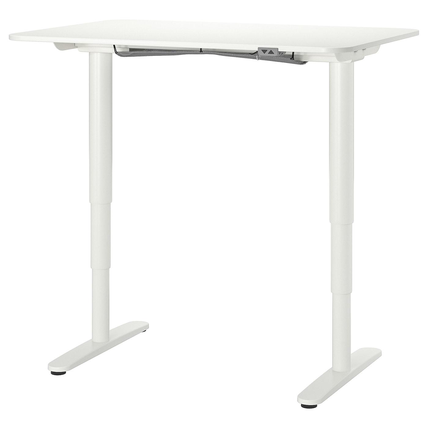 IKEA BEKANT białe biurko, sit/stand, 120x80 cm