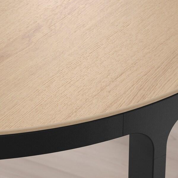 BEKANT Stół konferencyjny, okleina dębowa bejcowana na biało czarny, 280x140 cm