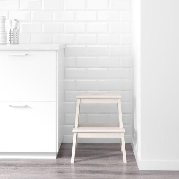 BEKVÄM Taboret ze schodkiem, biały, 50 cm