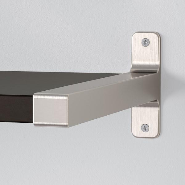BERGSHULT / GRANHULT Półka ścienna, brązowoczarny/niklowano, 80x30 cm
