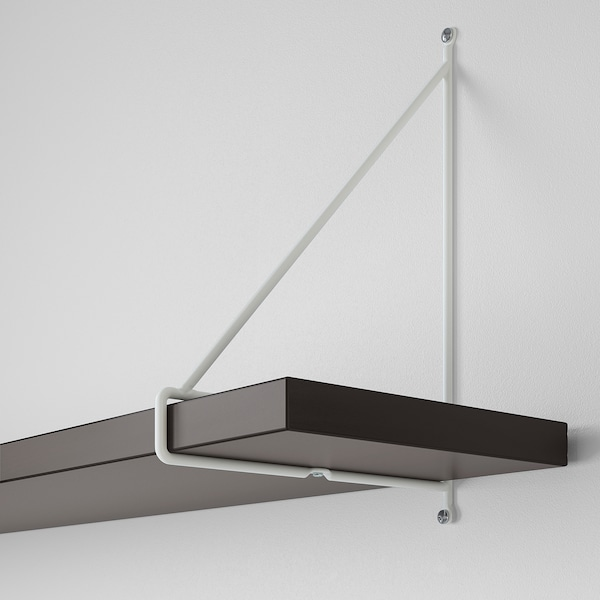 BERGSHULT / PERSHULT Półka ścienna, brązowoczarny/biały, 120x20 cm