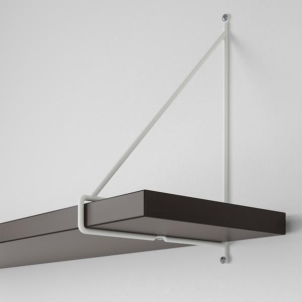 BERGSHULT / PERSHULT półka ścienna brązowoczarny/biały 80 cm 20 cm 2.5 cm 10 kg