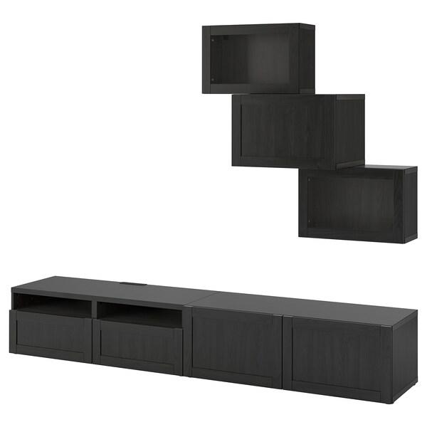 BESTÅ Kombinacja na TV/szklane drzwi