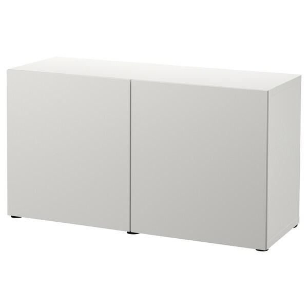 BESTÅ Kombinacja z drzwiami, biały/Lappviken jasnoszary, 120x42x65 cm