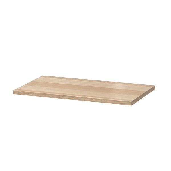BESTÅ Półka, dąb bejcowany na biało, 56x36 cm