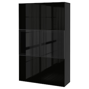 Kolor: Czarnybrąz/selsviken wysoki połysk/czarny dymione szkło.