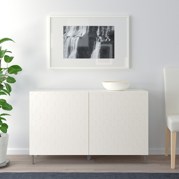 BESTÅ kombinacja z drzwiami biały/Vassviken/Stallarp biały 120 cm 40 cm 74 cm