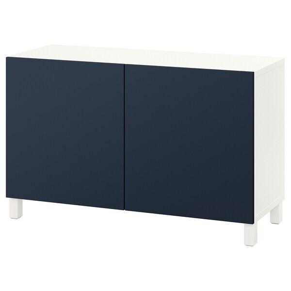 BESTÅ kombinacja z drzwiami biały/Notviken/Stubbarp niebieski 120 cm 42 cm 74 cm