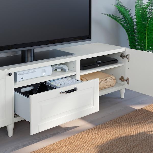 BESTÅ Szafka pod TV, biały/Smeviken/Kabbarp biały, 180x42x48 cm