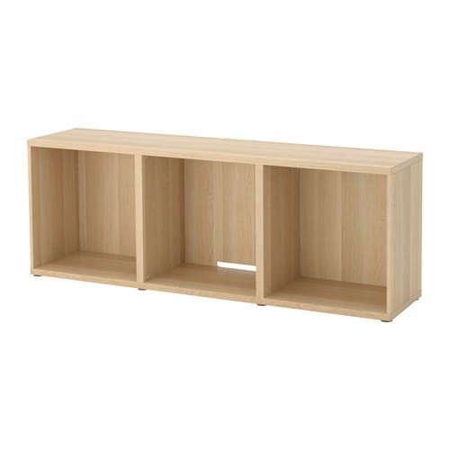 Dodatkowe BESTÅ Szafka pod TV - dąb bejcowany na biało - IKEA ZT42