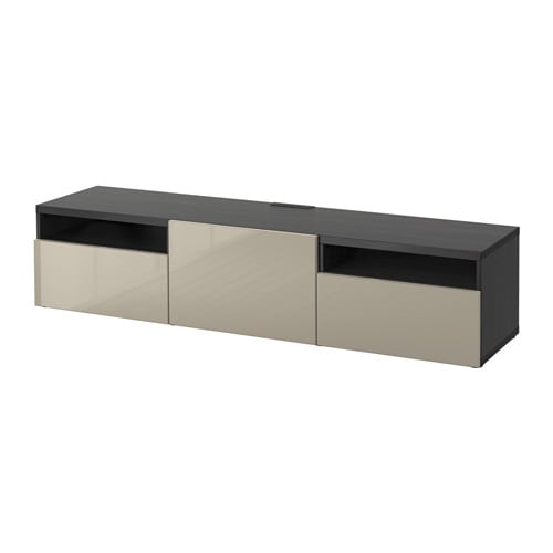 best szafka pod tv czarnybr z selsviken wysoki po ysk be prowadnica samodomykaj ca si ikea. Black Bedroom Furniture Sets. Home Design Ideas