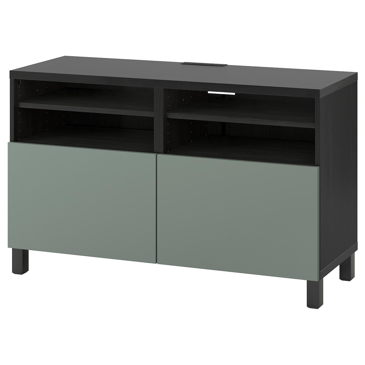 -tv-bench-with-doors-black-brown-notviken-stubbarp-grey-green__0741079_PE742182_S5
