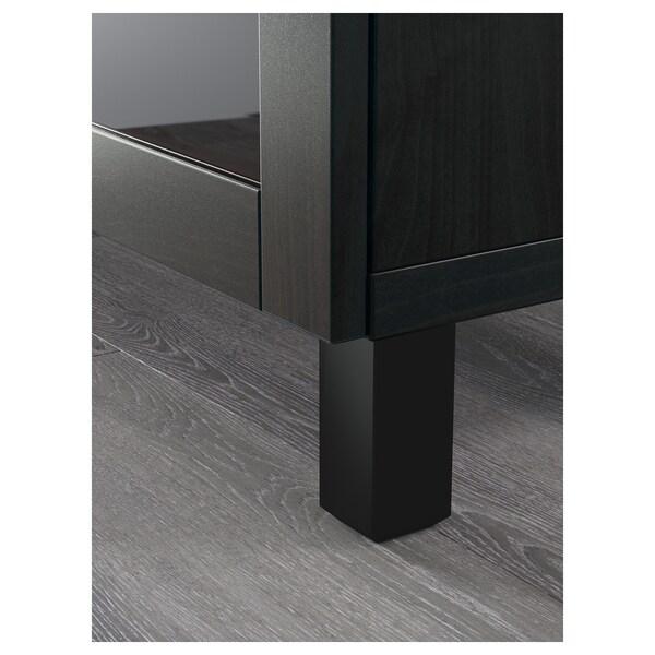 BESTÅ ława TV z szufladami czarnybrąz/Hanviken/Stubbarp czarnobrązowe szkło przezroczyste 180 cm 42 cm 74 cm 50 kg