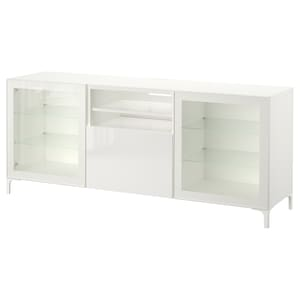 Kolor: Biały/selsviken wysoki połysk biały szkło bezbarwne.