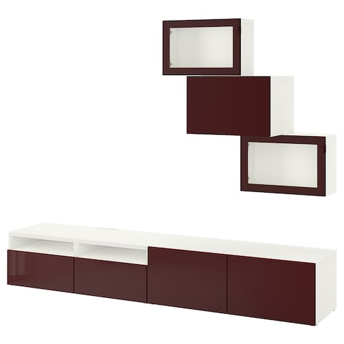 IKEA BESTÅ Kombinacja na tv/szklane drzwi