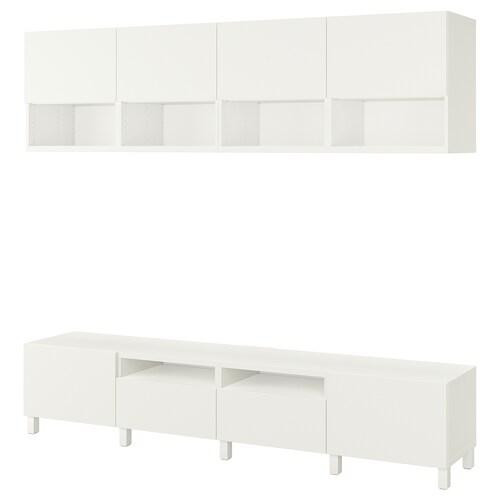 BESTÅ szafka pod TV biały/Lappviken/Stubbarp biały 240 cm 42 cm 230 cm