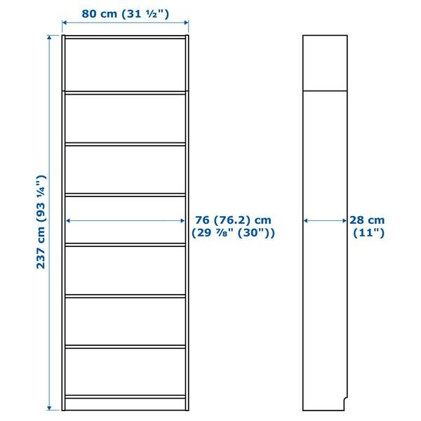 BILLY regał biały 80 cm 28 cm 237 cm 30 kg