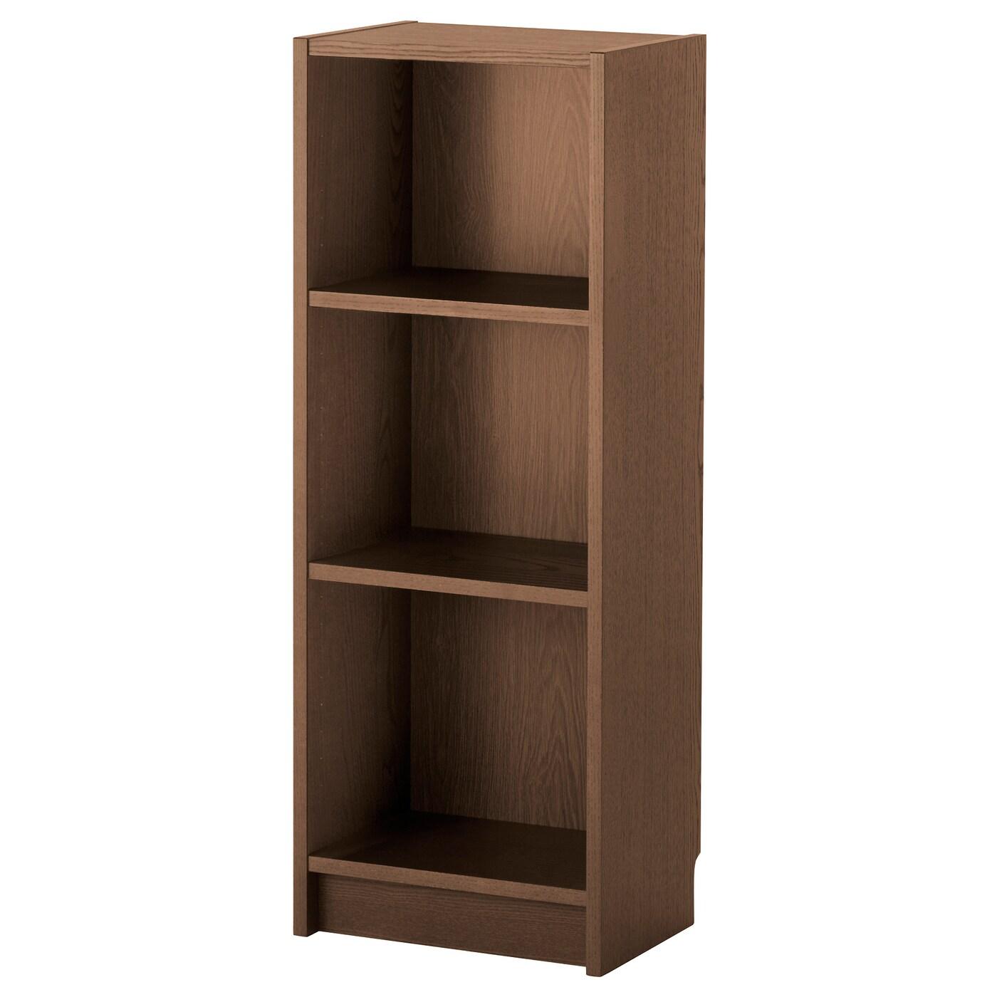 IKEA BILLY brązowy regał z półkami w jesionowej okleinie, 40x28x106 cm