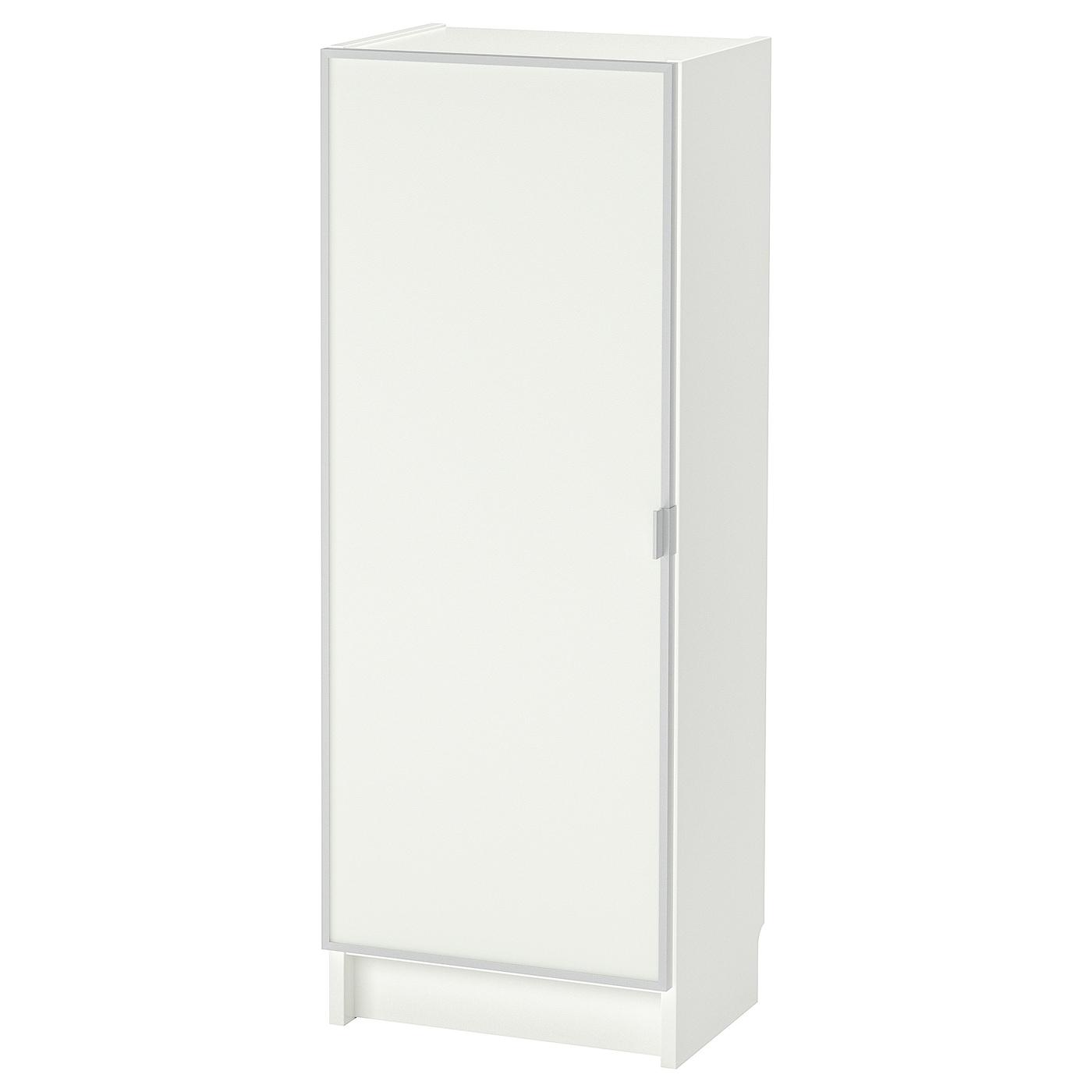 IKEA BILLY / MORLIDEN Regał, biały, szkło, 40x30x106 cm