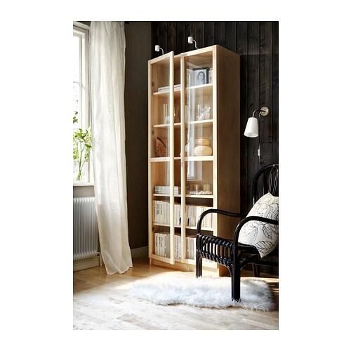 Ikea regal billy oxberg  BILLY / OXBERG Regał - biały, 80x202x30 cm - IKEA
