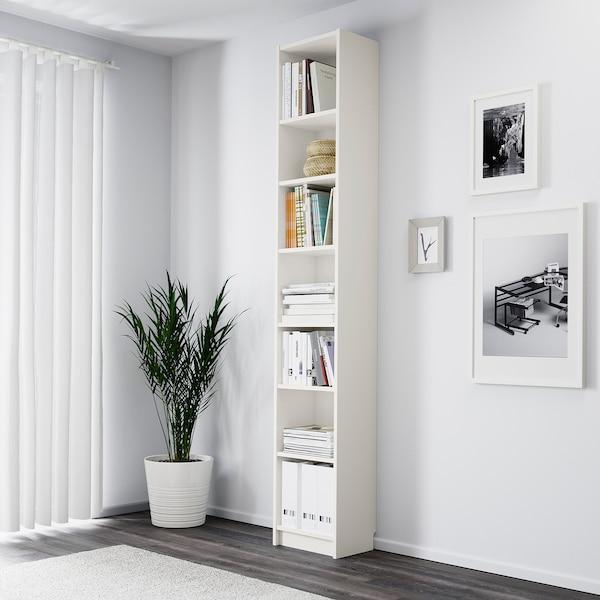 BILLY Regał, biały, 40x28x237 cm
