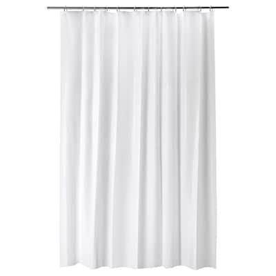 BJÄRSEN Zasłona prysznicowa, biały, 180x200 cm