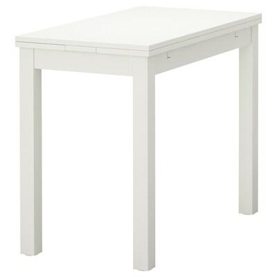 BJURSTA Stół rozkładany, biały, 50/70/90x90 cm