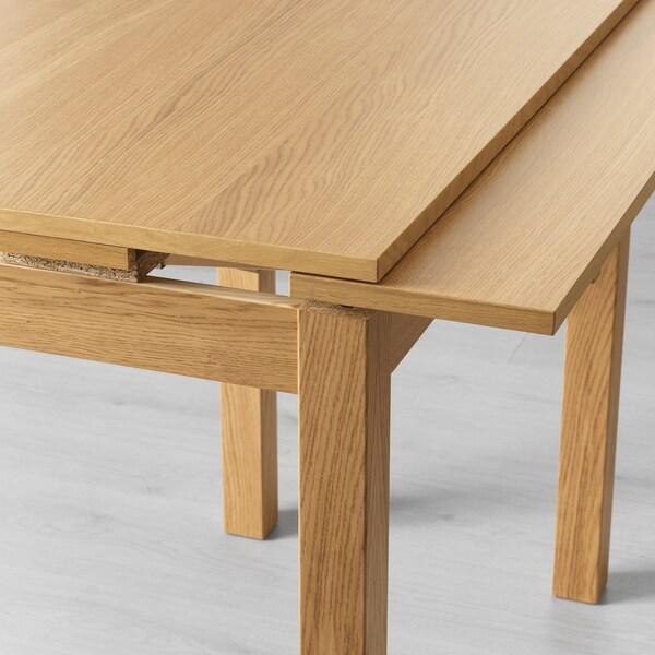 BJURSTA Stół rozkładany, okl dęb, 50/70/90x90 cm