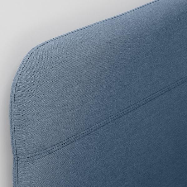 BLÅKULLEN Tapicerowana rama łóżka/nar wezgł, Knisa średnioniebieski, 90x200 cm