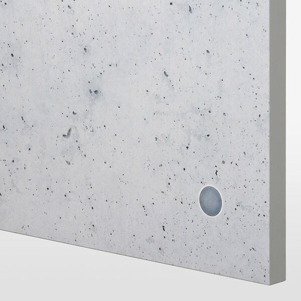 BLIKSVÄR drzwi szary imitacja betonu 49.5 cm 229.4 cm 236.4 cm 1.8 cm