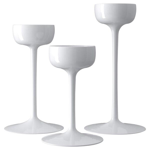 BLOMSTER świeczniki, 3 szt. biały