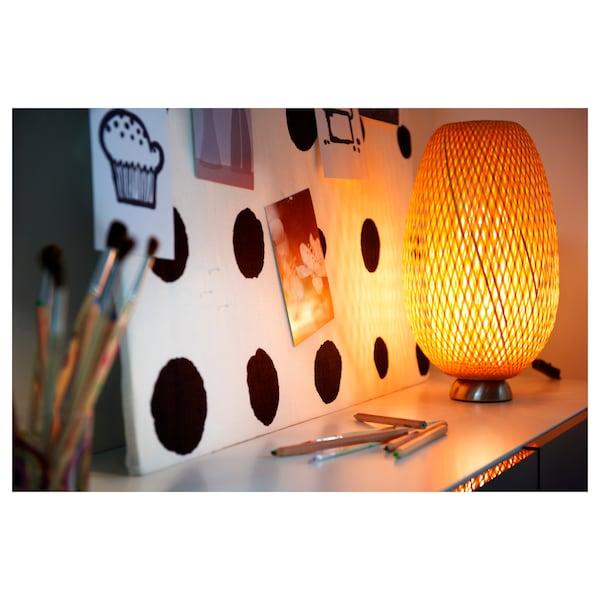 BÖJA Lampa stołowa, bambus/wykonano ręcznie