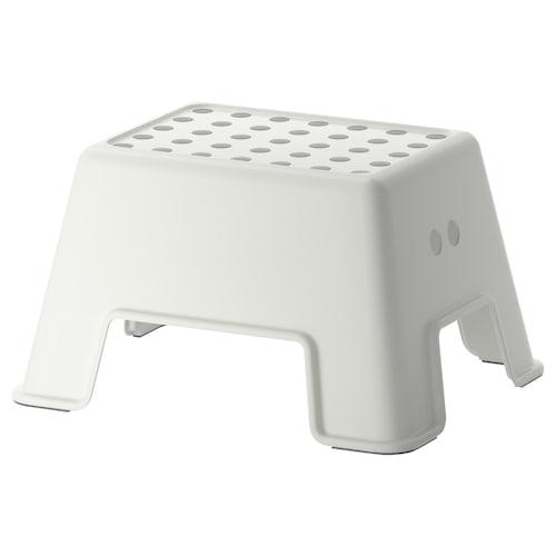 BOLMEN stołek ze schodkiem biały 44 cm 35 cm 25 cm 100 kg