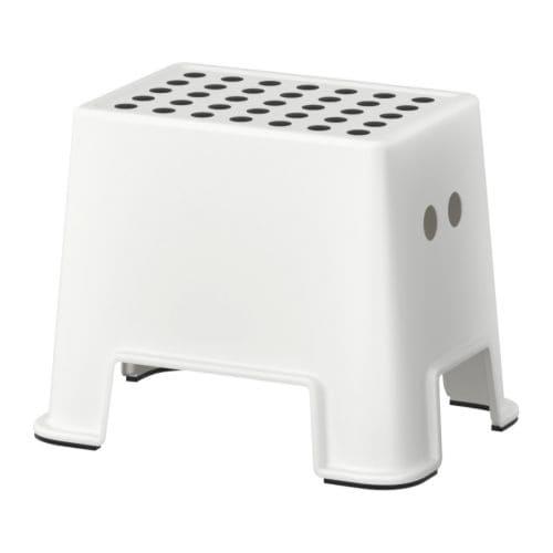 BOLMEN Stołek IKEA Stołek stoi stabilnie w miejscu dzięki zabezpieczeniu antypoślizgowemu pod spodem.