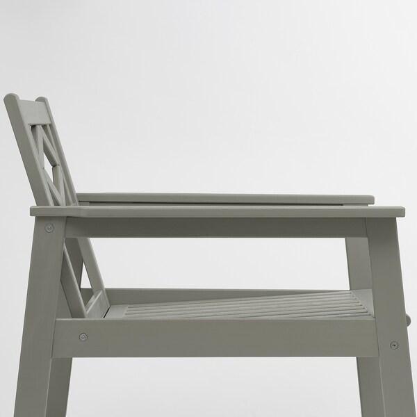 BONDHOLMEN fotel ogrodowy szara bejca/Kuddarna beżowy