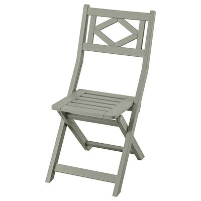 BONDHOLMEN Krzesło, ogrodowe, składany/szary