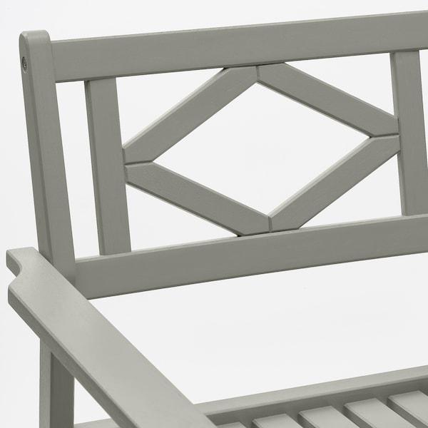 BONDHOLMEN Stół + 2 krzesła z podł, ogrodowe, szara bejca/Frösön/Duvholmen ciemnoszary