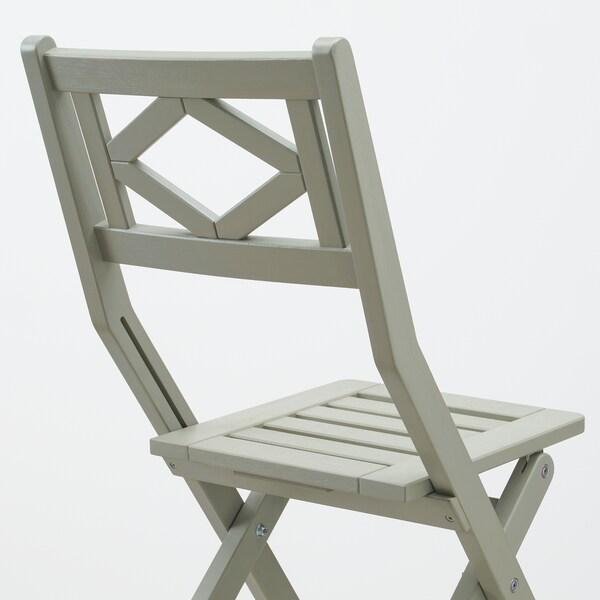 BONDHOLMEN Stół + 2 krzesła z podł, ogrodowe, szara bejca/Frösön/Duvholmen ciemny beżowo-zielony