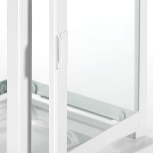 BORRBY Lampion, do wewnątrz/na zewnątrz biały, 28 cm