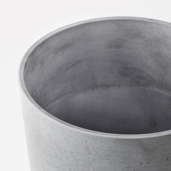 BOYSENBÄR Osłonka doniczki do wewnątrz/na zewnątrz jasnoszary 26 cm 27 cm 24 cm 25 cm