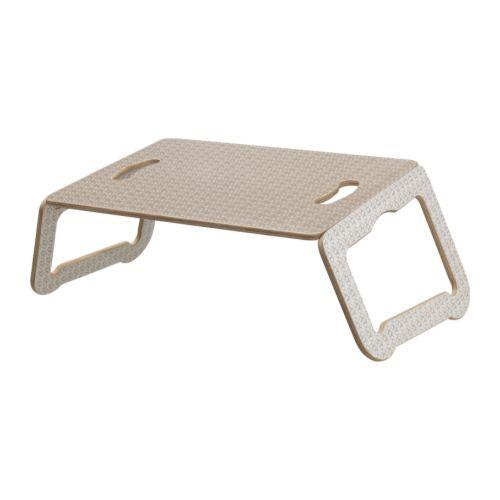 BRÄDA Podstawa pod laptopa , biały, beżowy Głębokość: 30 cm / 30 cm Wysokość: 21 cm Maksymalne obciążenie: 10 kg