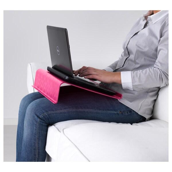 BRÄDA Podstawka pod laptop różowy 42 cm 31 cm 9 cm