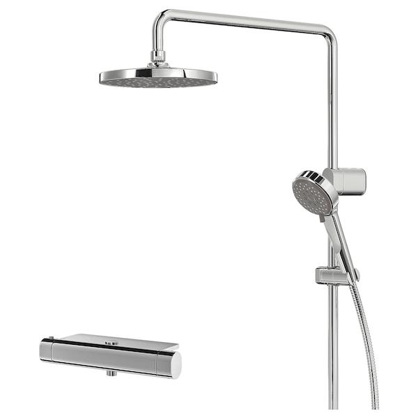 BROGRUND zest prysz z mieszaczem termostat chrom 150 mm 90 mm 200 mm 1500 mm 300 mm 570 mm 1170 mm