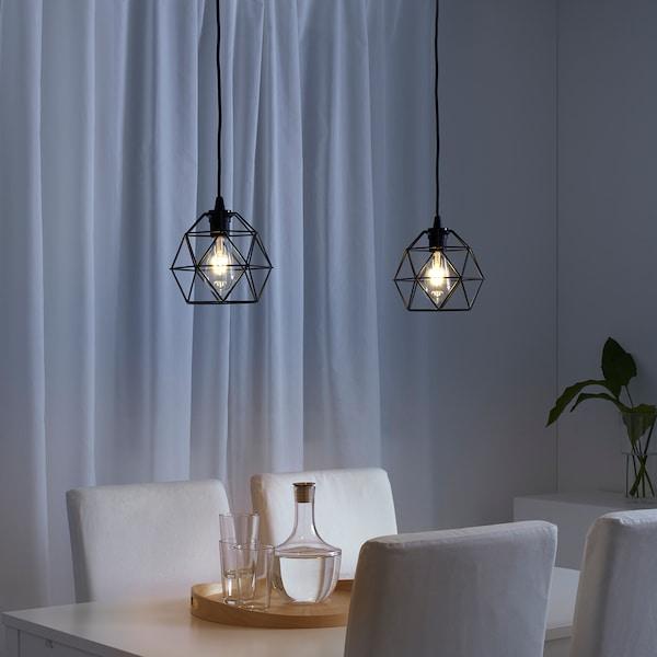 BRUNSTA Klosz lampy wiszącej, czarny, 20 cm
