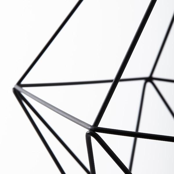 BRUNSTA Klosz lampy wiszącej, czarny, 35 cm